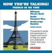 Cover of: Now You're Talking French with CD