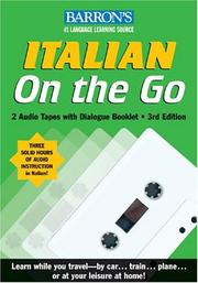 Cover of: Italian On the Go with Audiocassettes: A Level One Language Program (On the Go/Level 1)