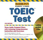 Cover of: Barron's TOEIC Test Audio CD Pack