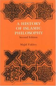 Cover of: A History of Islamic Philosophy (Studies in Oriental Culture) | Majid Fakhry