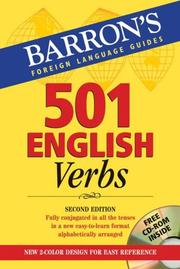 Cover of: 501 English Verbs | T.R. Beyer  Jr.