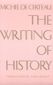 Cover of: The writing of history