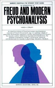 Cover of: Freud and Modern Psychanalysis (Barron