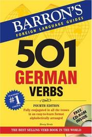 Cover of: 501 German Verbs with CD-ROM (501 Verb Series)