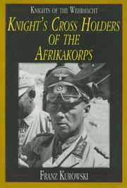 Cover of: Knight's cross holders of the Afrikakorps