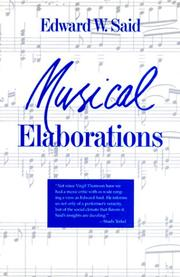Cover of: Musical elaborations
