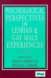 Psychological Perspectives on Lesbian and Gay Male Experiences