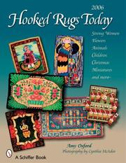 Cover of: Hooked Rugs Today | Amy Oxford
