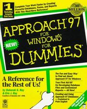 Cover of: Approach 97 for Windows for dummies | Deborah S. Ray