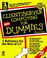 Cover of: Client/server computing for dummies