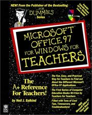 Cover of: Microsoft Office 97 for Windows for teachers