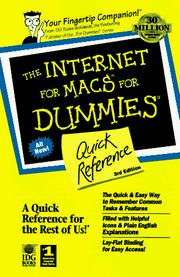 Cover of: The Internet for Macs for dummies