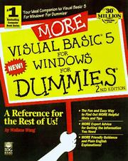 Cover of: More Visual Basic 5 for Windows for dummies | Wally Wang