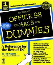 Cover of: Microsoft Office 98 for Macs for dummies