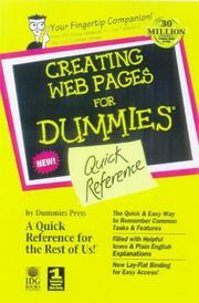 Cover of: Creating Web pages for dummies quick reference | Doug Lowe