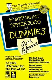 Cover of: Wordperfect office 2000 for dummies