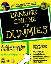 Cover of: Banking online for dummies