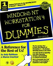 Cover of: Windows NT 4 workstation for dummies
