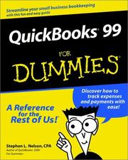 Cover of: Quickbooks 99 for dummies