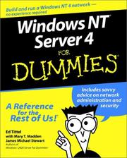 Cover of: Windows NT Server 4 for Dummies