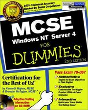 Cover of: MCSE Windows NT Server 4 for dummies