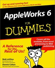 Cover of: AppleWorks 6 for Dummies | Bob LeVitus