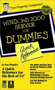 Cover of: Windows 2000 Server for Dummies Quick Reference