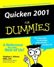 Cover of: Quicken 2001 for dummies