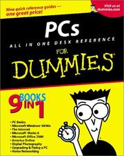 Cover of: PCs all in one desk reference for dummies |