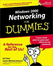 Cover of: Windows 2000 Networking for Dummies
