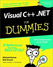 Cover of: Visual C++.NET for Dummies (With CD-ROM) | Michael Hyman