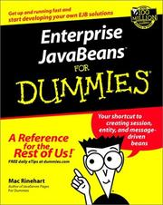 Enterprise JavaBeans for dummies by Mac Rinehart