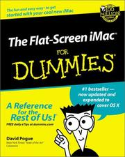 The Flat-Screen iMac for Dummies by David Pogue