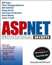 Cover of: ASP.NET Professional Secrets | Bill Evjen