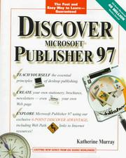 Cover of: Discover Microsoft Publisher 97