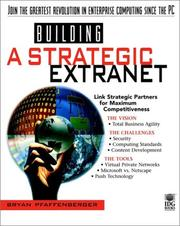 Cover of: Building a strategic extranet