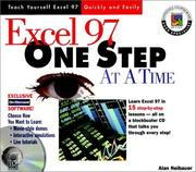 Cover of: Excel 97 one step at a time | Alan R. Neibauer