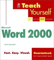 Cover of: Teach yourself Microsoft Word 2000