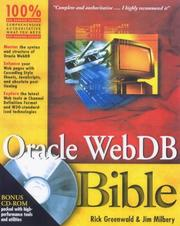 Cover of: Oracle WebDB bible