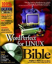 Cover of: WordPerfect for Linux bible