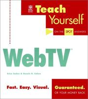 Teach Yourself® WebTV® (Teach Yourself (IDG)) by Erica Sadun, Dennis R. Cohen
