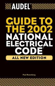 Cover of: Audel Guide to the 2002 National Electrical Code | Paul Rosenberg