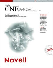 Cover of: Novell's CNE® Clarke Notes for NetWare® 5 Administration