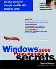 Cover of: Windows 2000 Programming Secrets (... Secrets (IDG))