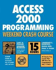Access 2000 programming weekend crash course by