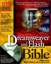 Cover of: Dreamweaver and Flash Bible