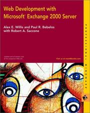 Cover of: Web Development with Microsoft Exchange 2000 Server | Alex E. Willis