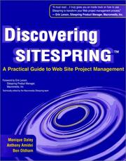 Cover of: Discovering Sitespring by