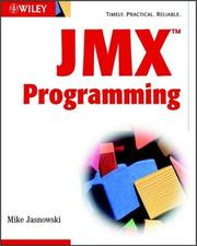Cover of: JMX Programming | Mike Jasnowski