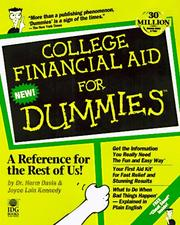 Cover of: College financial aid for dummies